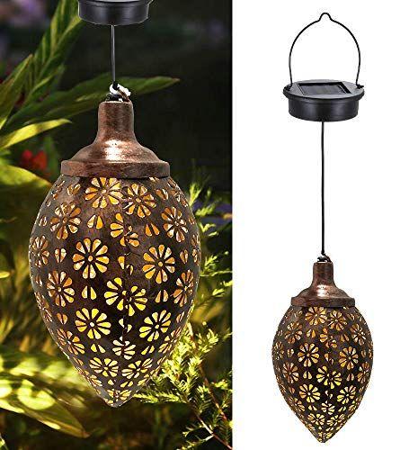 Lanterne Solaire D Exterieur Lyeiaa Lanterne De Jardin Decorative A Suspendre Pour Exterieur En 2020 Lanterne Solaire Lanterne Jardin Lampes Solaires