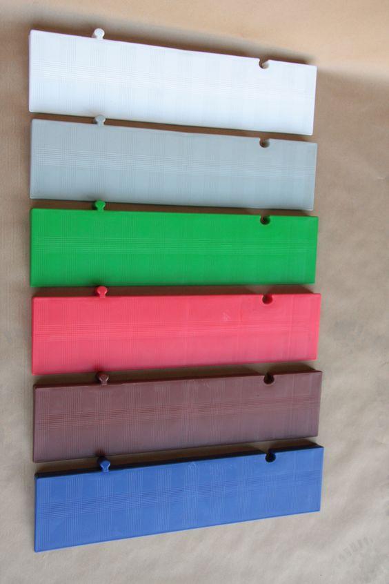 Rampas de 25 muestrario de colores estandar para las - Colores de tarima ...
