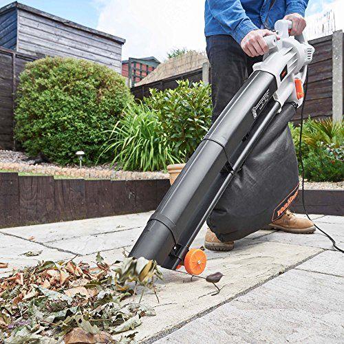 Garden Patio 3 In 1 Leaf Grass Blower Shredder Vacuum And Mulcher 35 Litre Bag