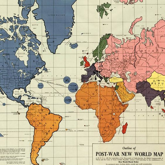Gomberg s infamous New World Order map 1942