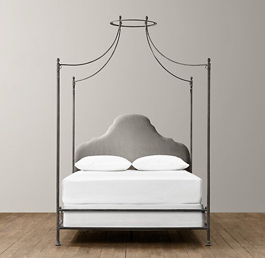Allegra Iron Canopy Bed Restoration Hardware Baby
