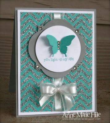 Stampin' Anne: Positively Chevron for Paper Players #150
