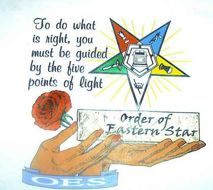 oes | OES Eastern Star Guided by Light tshirt