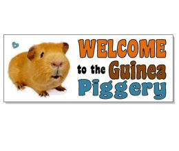 WELCOME GUINEA PIG ACRYLIC SIGN Plaque hutch cage run door garden gift Piggery