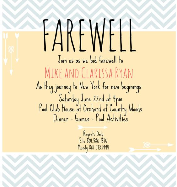 farewell invite farewell invitation farewell party picmonkey creations ...