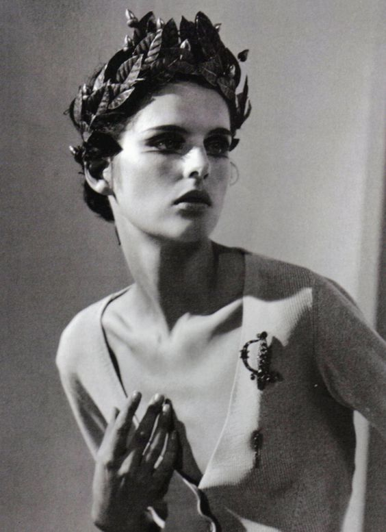 """Vision"" Stella Tennant photographed by Steven Meisel for Vogue Italia 1996"