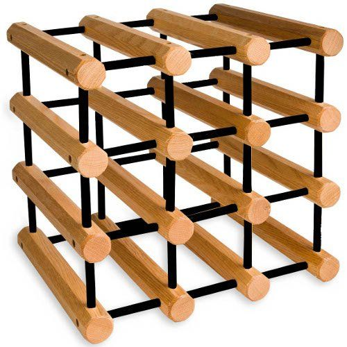 Cheap J K Adams Ash Wood 12 Bottle Wine Rack Natural With Black Pegs Https Kitchenstoragecabinet Review Cheap J K Adams A Wood Wine Racks Wine Rack Ash Wood