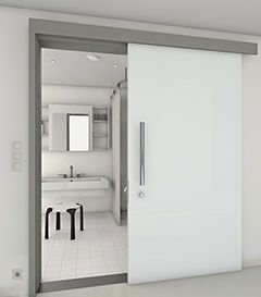 Glass Door For The Bathroom Which Runs In Front Of The Wall Sides For Sliding Doors In Front Of The My Design Blog Glastur Moderne Innenturen Schiebetur