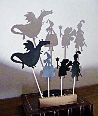 ombres de marionnettes.