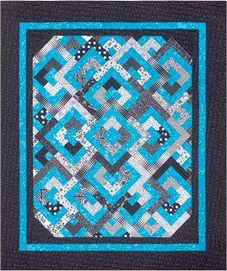 The Virginia Quilter - Quilting Patterns - Cozy Quilt Designs - Diamond Double Quilt Pattern
