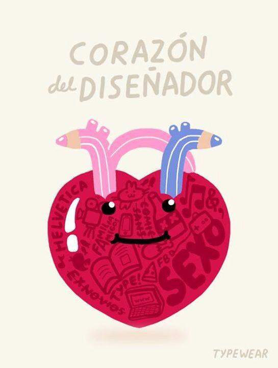 corazón de diseñador