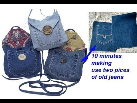 10 Minutes Making Reuse Old Jeans To Make Sling Bag For Girls