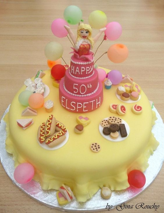 Party Surprise Cake by *ginas-cakes on deviantART
