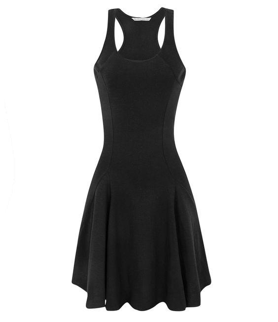 Vestido preto flamê Renner