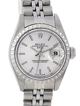 Rolex Date Oyster Perpetual Ladies Ss Watch 79240