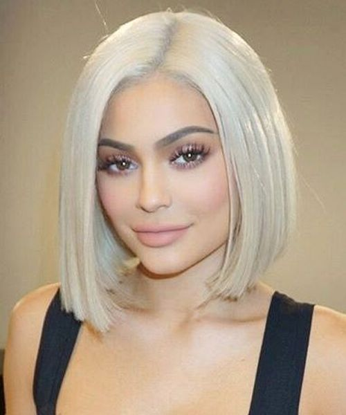Incredible Platinum Blonde Lob Hairstyles 2018 For Women Not To Miss Out Hair And Comb Jenner Hair Platinum Blonde Hair Lob Hairstyle