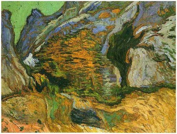 Vincent van Gogh - Les Peiroulets Ravine, 1889