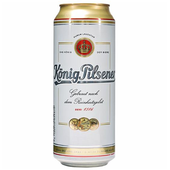Bia Konig Pilsener 4,9% - Lon 500ml - Bia Nhập Khẩu
