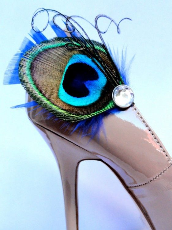 #peacock #feather #shoe clips
