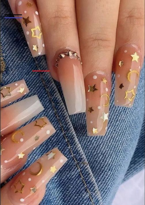 50 Glittering Acrylic Nail Designs For Long And Medium Length Nails Coffin Nails 50 Glittering In 2020 Square Acrylic Nails Rhinestone Nails Acrylic Nail Designs
