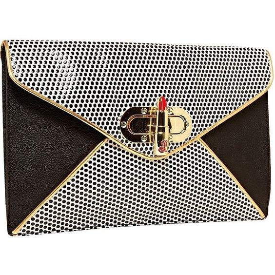 Betsey Johnson Super Betsey Clutch found on Polyvore: