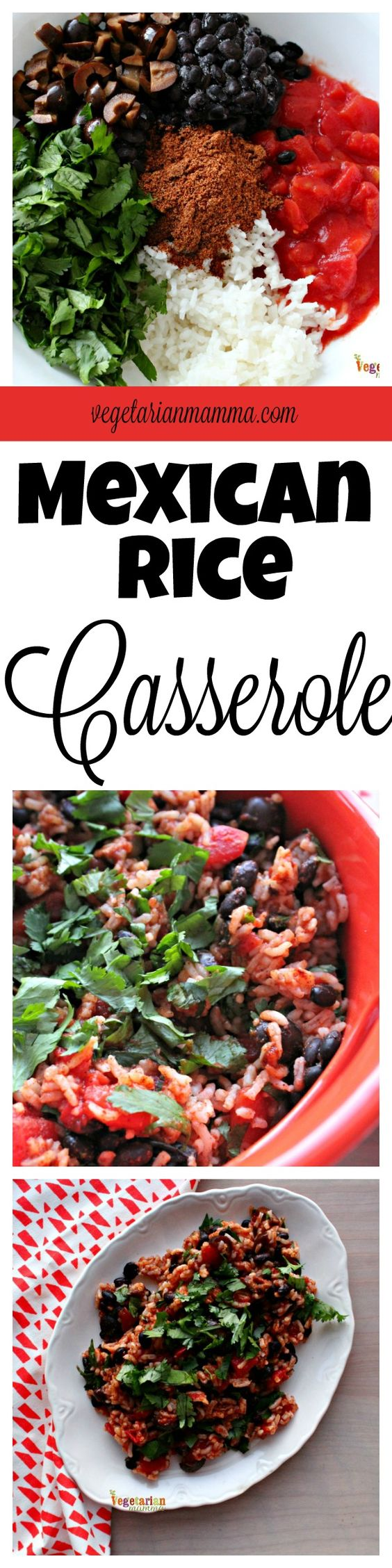 Mexican Rice Casserole - gluten free and dairy free - @vegetarianmamma.com
