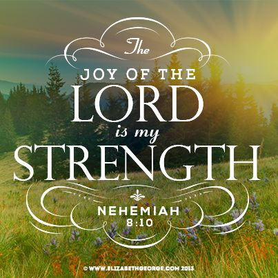 Image result for Picture joy and strength Bible