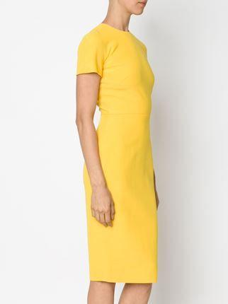 vestido ajustado de manga corta