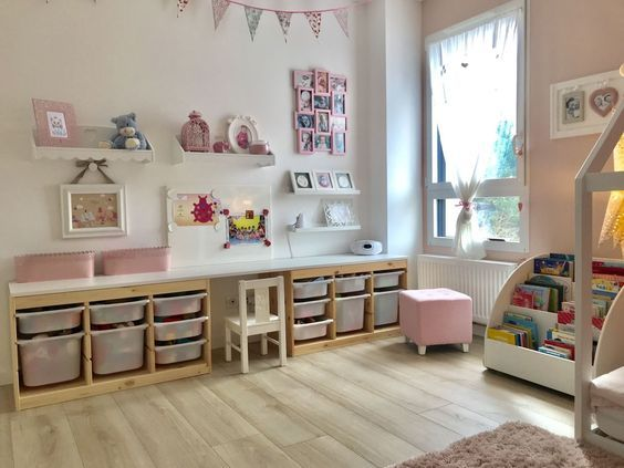 Chambre De Notre Fille Espace Jeux Bureau Chambre Enfant Deco Chambre Enfant Idee Chambre