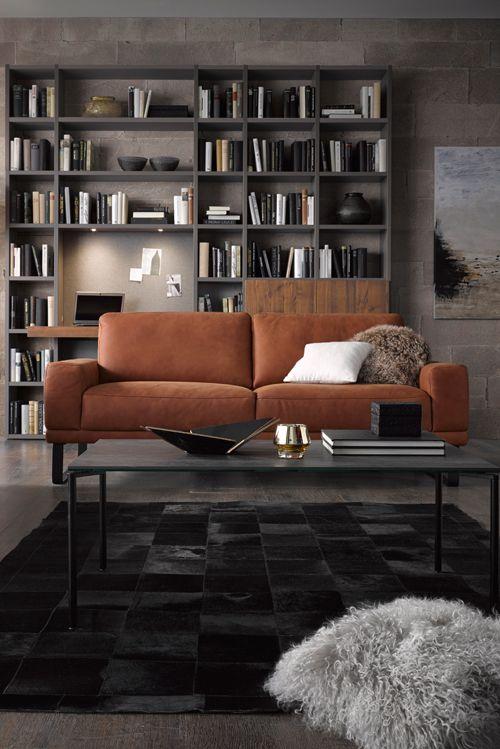 Feinstes Leder macht Amadora in jedem Raum zum Hingucker Mehr Infos - designer mobel bucherregal