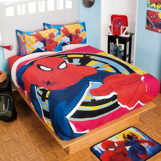 Cobertor de Borrega Hombre Araña #Infantil #Cobertor #Borrega #Hogar #IntimaHogar #Decoracion