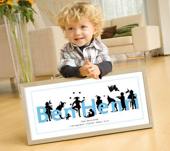 Persönliches Geschenk zur Geburt, Taufe, Patenkind von miko miko   auf DaWanda.com