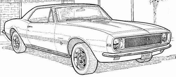 1967 Camaro Coloring Pages