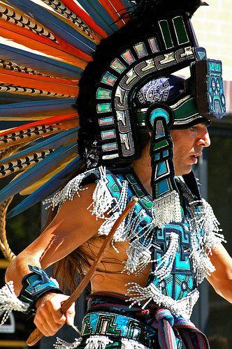 what is the Aztec Warrior Headdress made of? | Mayan Headdress