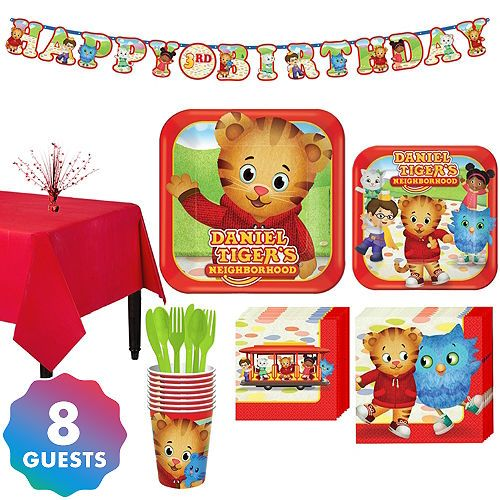 Daniel Tiger Tableware Party Kit For 8 Guests Daniel Tiger Birthday Party Daniel Tiger Birthday Tiger Birthday Party