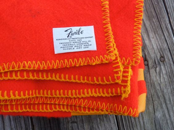 Bright red Faribo blanket featuring Kodak Film by OatesGeneral
