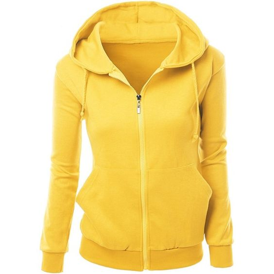 Amazon.com: Xpril Women's Basic Hoodie zip up sweater with Side ...