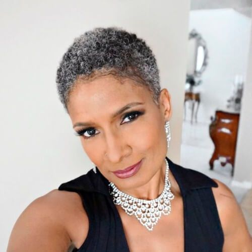 Hairstyles For Black Women Over 60 New Natural Hairstyles Short Grey Hair Natural Hair Styles Short Natural Hair Styles
