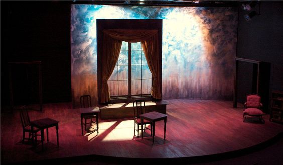 """Scenic Design for Sideshow Theatre Company's """" Theories of the Sun"""" by Eric Luchen"""