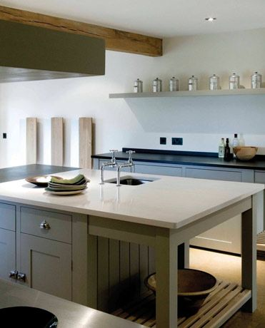 I'm seeing gray and putty as a trend going forward in kitchen cabinets. consider silestone for a counter. I love it, especially because they have a solid white.