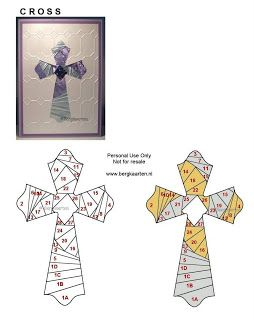 Cross Iris Fold Card paper folding for cards or framed art! cool!