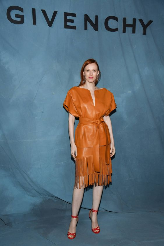 Karen Elson in Givenchy. Givenchy show, Paris Fashion Week – 30 September 2018