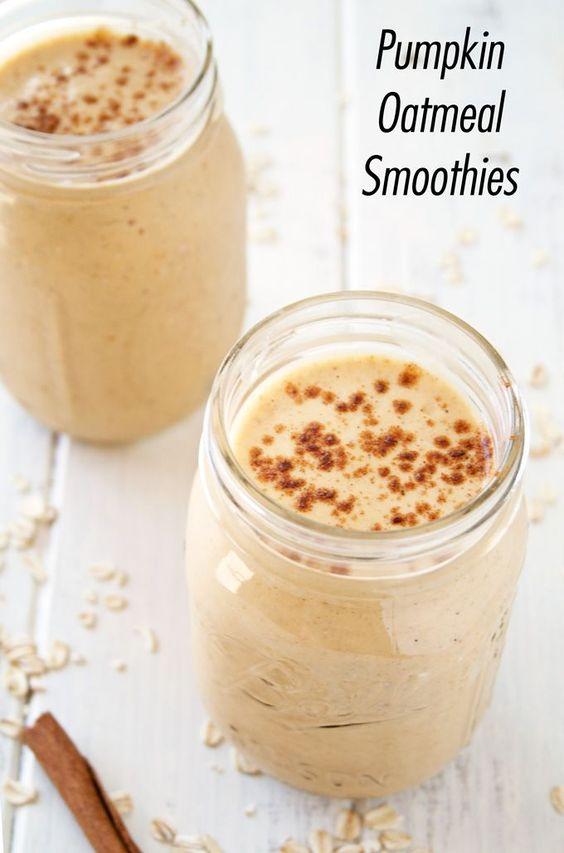 Pumpkin oatmeal, Oatmeal smoothies and Oatmeal on Pinterest