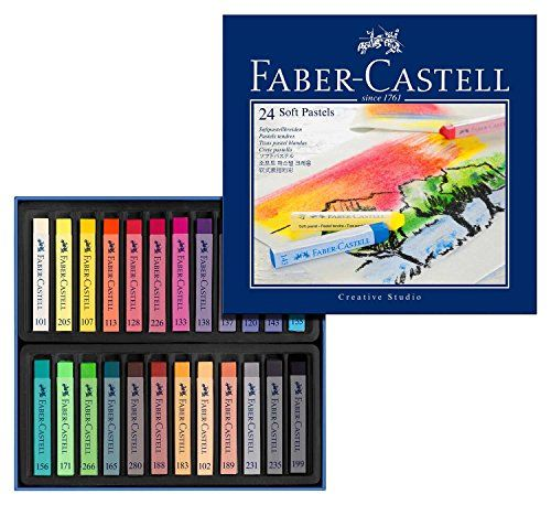 Faber Castell 128324 Goldfaber Studio Soft Pastel Chalks Pack Of