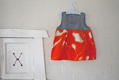 Retro orange and grey spot dress from Arty Baby $56 www.artybaby.com.au
