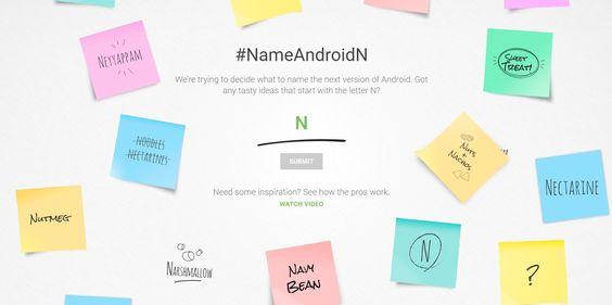 Utilizadores poderão escolher o nome do Android N