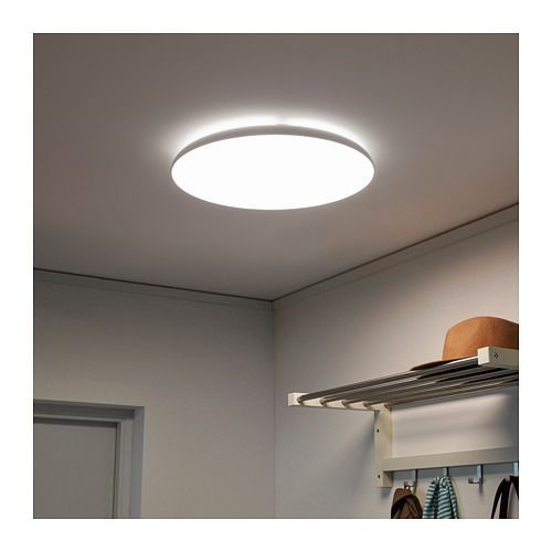 Nymane Led Ceiling Lamp Ikea Gives A Good General Light Lampschlafzimmer Ceiling Lamp Ceiling Lamp White Led Ceiling Lamp