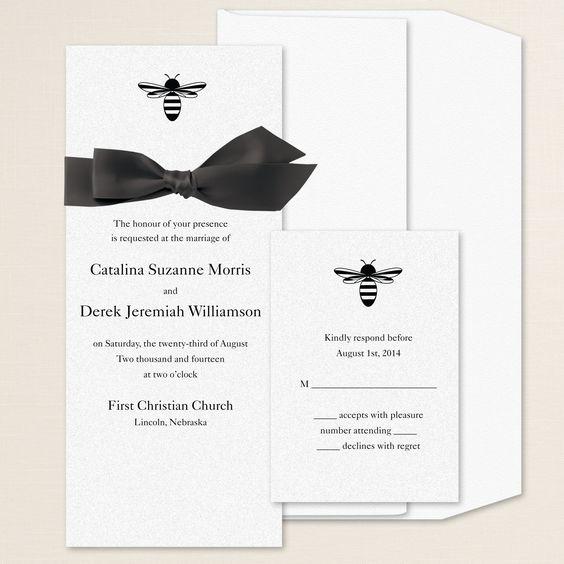 Bee Loved Wedding Invitation | #exclusivelyweddings