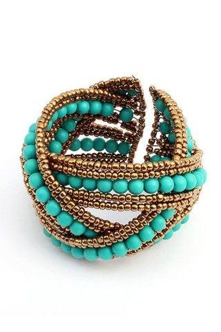 Boho Beaded Crossed Bracelet - OASAP.com