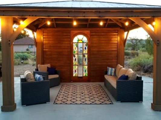 12 X 14 Wood Gazebo With Aluminium Roof Yardistry In 2020 Aluminum Roof Gazebo Outdoor Living Space